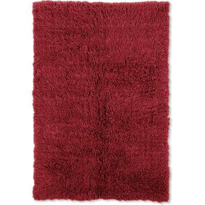 Bloomville Hand-Woven Red Area Rug Rug Size: Rectangle 36 x 56