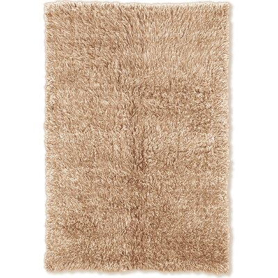 Bloomville Hand-Woven Tan/White Area Rug Rug Size: Rectangle 36 x 56
