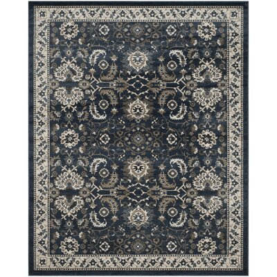 Arthur Dark Blue Area Rug Rug Size: Square 51 x 51