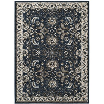 Arthur Dark Blue Area Rug Rug Size: Rectangle 51 x 76