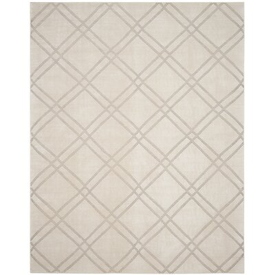 Bradenton Hand-Knotted Dove/Ivory Area Rug Rug Size: Rectangle 4 x 6