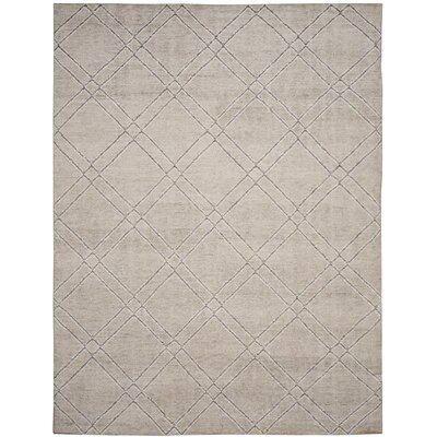 Bradenton Hand-Knotted Khaki/Gray Area Rug Rug Size: Rectangle 4 x 6