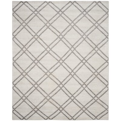 Bradenton Hand-Knotted Steel Gray Area Rug Rug Size: Rectangle 8 x 10