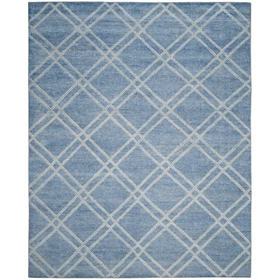 Bradenton Hand-Knotted Deep Blue Area Rug Rug Size: Rectangle 5 x 8
