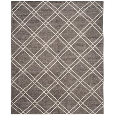 Bradenton Hand-Knotted Dark Gray Area Rug Rug Size: Rectangle 8 x 10
