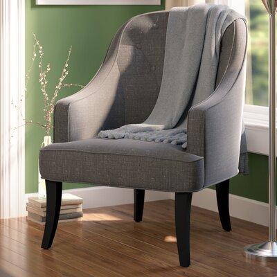 Lizton Arm Chair Upholstery: Dark Gray/Espresso