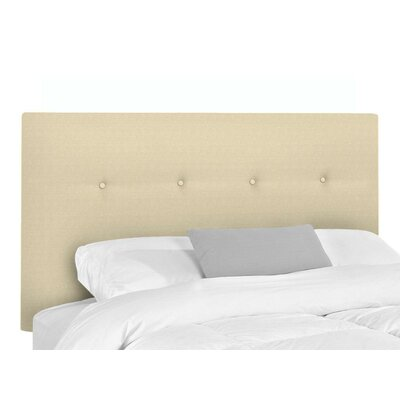 Bramblecrest Upholstered Panel Headboard Size: King, Upholstery: Natural