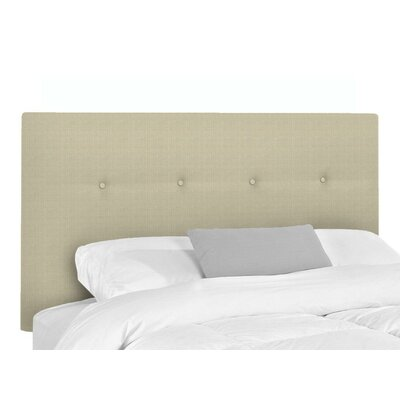 Bramblecrest Upholstered Panel Headboard Size: Twin, Upholstery: Flax