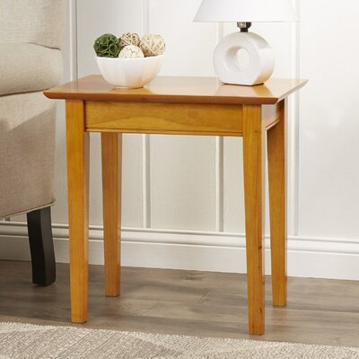 Oliver Side Table with Charging Station Finish: Caramel Latte