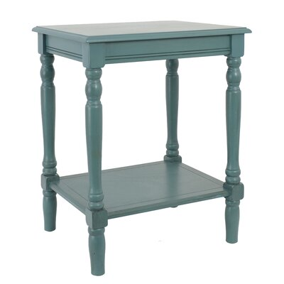 Hadenson End Table Color: Sea Green (Blue-ish Green)