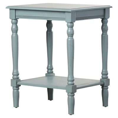 Hadenson End Table Color: Antique Arctic Blue