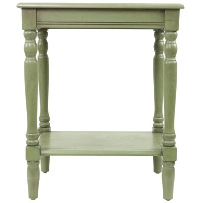 Hadenson End Table Color: Green