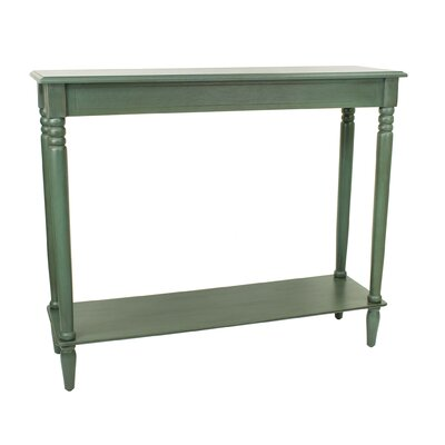 Wedgewood Console Table Color: Antique Teal