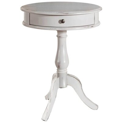 Wedgewood 1 Drawer End Table Finish: Antique White