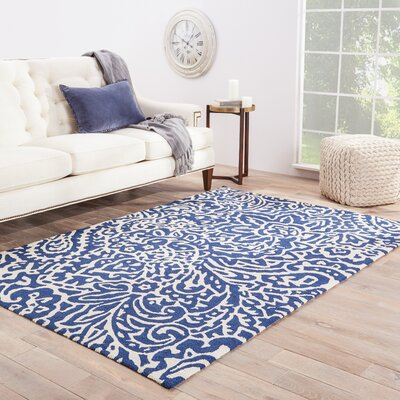 Alder Flores Blue Indoor/Outdoor Area Rug Rug Size: Rectangle 36 x 56