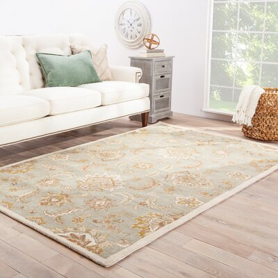 Thornhill Rug in Blue & Ivory Rug Size: Rectangle 2' x 3'