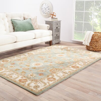 Natalie Blue/Ivory Oriental Area Rug Rug Size: Rectangle 12 x 15