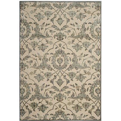Patrick Cream/Slate Area Rug Rug Size: 33 x 57