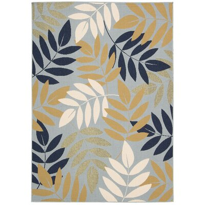 Lewis Blue Indoor/Outdoor Area Rug Rug Size: Rectangle 93 x 129