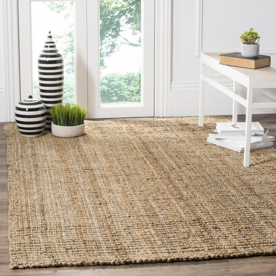 Gaines Hand-Woven Brown Area Rug Rug Size: 10 x 14