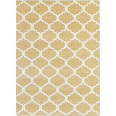 Bogdan Wheat Area Rug Rug Size: Rectangle 93 x 126