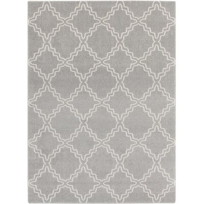 Bogdan Gray Area Rug Rug Size: Rectangle 93 x 126
