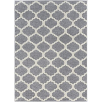 Bogdan Gray Geometric Area Rug Rug Size: Rectangle 53 x 73