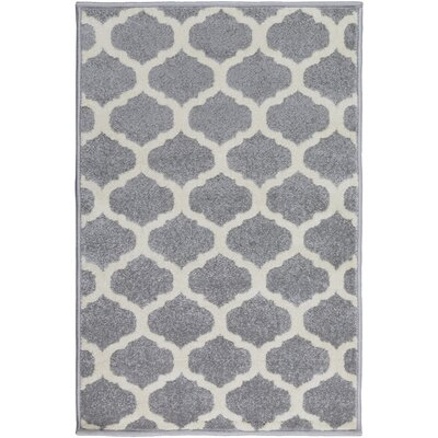 Bogdan Gray Geometric Area Rug Rug Size: Rectangle 2' x 3'
