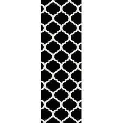 Bogdan Charcoal/Ivory Geometric Area Rug Rug Size: Runner 27 x 73