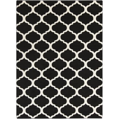 Bogdan Charcoal/Ivory Geometric Area Rug Rug Size: Rectangle 53 x 73