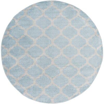 Bogdan Charcoal/Slate Geometric Area Rug Rug Size: Round 710
