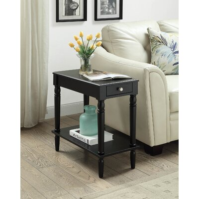 Carlisle Chairside Table Finish: Black