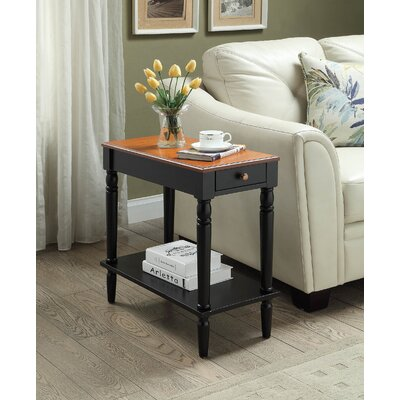 Carlisle Chairside Table Finish: Black / Cherry