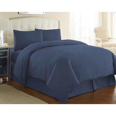 Cosima 3 Piece Duvet Cover Set Size: Full / Queen, Color: Dark Blue