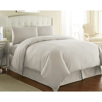 Cosima 3 Piece Duvet Cover Set Color: Bone, Size: Twin / Twin XL