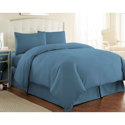 Cosima 3 Piece Duvet Cover Set Size: King / California King, Color: Coronet Blue