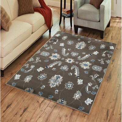 Rowena Gray Area Rug Rug Size: Rectangle 51 x 75