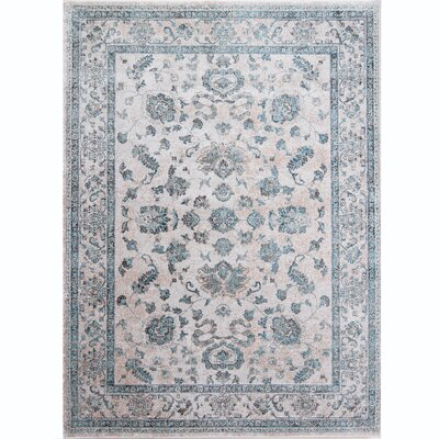 Arenberg Distressed Gray Area Rug Rug Size: 710 x 102