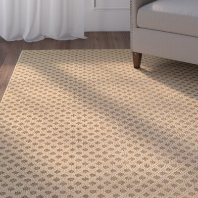 Carrow Brown Indoor/Outdoor Area Rug Rug Size: 52 x 76