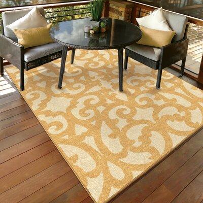 Barnsdale Trellis Beige Indoor/Outdoor Area Rug Rug Size: 51 x 76
