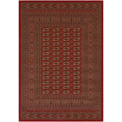 Borgen - Red 2 x 3 3 Premium Wool Area Rug Rug Size: Rectangle 2 x 3 3