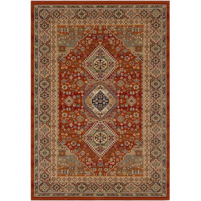 Sedra Burnt Orange Area Rug Rug Size: 2 x 3 3