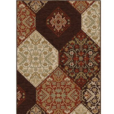 Augusta Brown/Red Area Rug