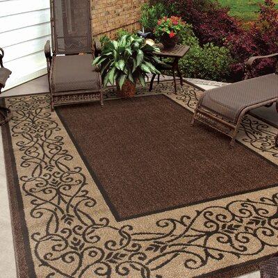 Barhill Iron Lattice Mink Brown/Beige Indoor/Outdoor Area Rug