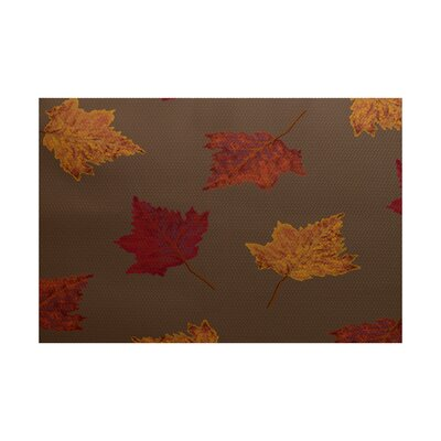 Agatha Flower Print Brown Indoor/Outdoor Area Rug Rug Size: Rectangle 2 x 3