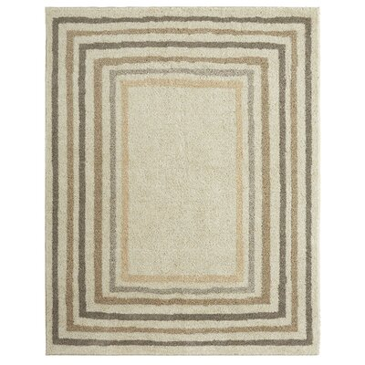 Bourne Sketched Border Beige Area Rug Rug Size: Rectangle 8 x 10