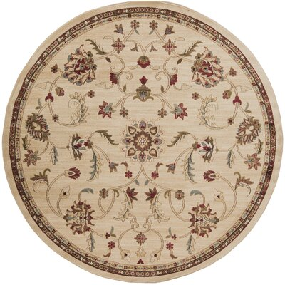 Gaskins Camel/Cinnamon Spice Area Rug Rug Size: Round 8