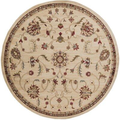 Gaskins Camel/Cinnamon Spice Area Rug Rug Size: Round 8