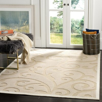 Bryan Light Beige/Cream Indoor/Outdoor Area Rug Rug Size: 67 x 96