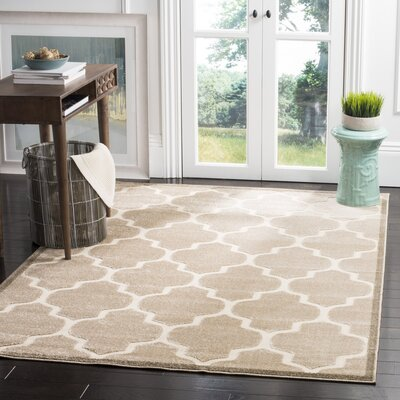 Bryan Light Beige/Cream Indoor/Outdoor Area Rug Rug Size: 33 x 53